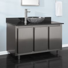 Bathroom Vanity No Faucet Holes gorgeous stainless steel isn't just for kitchens. this andres