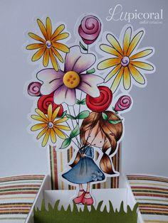 Detalhe do projeto tema Dia das Mães feito para a aula Colorindo Carimbos Digitais.                                                                                                                                                                                 Mais