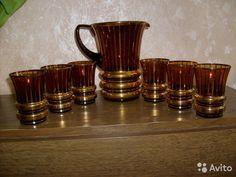 Кувшин и 6 стаканов Богемия из СССР