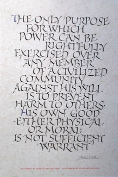 On Power. Calligraphy by Julian Waters