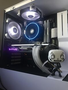 anyone here ever put toys/figures inside their PC case? | ResetEra Inside Pc, Custom Computer Case, Deco Interiors, Pc Cases, Action Figures, Houses, Toys, Gamer Room, Homes