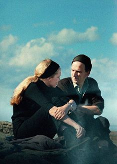 Liv Ullmann e Ingmar Bergman en el set de Persona (1966)