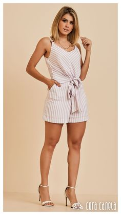 LOOK BOOK 07 • Coleção Zamá • Cora Canela Look Con Short, Summer Outfits, Summer Dresses, Retro Look, Fashion Outfits, Womens Fashion, Playsuit, Vintage Outfits, Vintage Clothing
