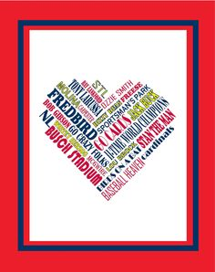 I Heart St Louis Cardinals by TheFinickyScribbler on Etsy, $15.00