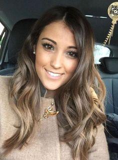 Ash brunette ombré bayalage