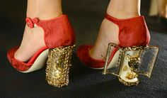 The Daily Bauble: Dolce & Gabbana Spring 2015 Reliquary Heels | The Terrier and Lobster - #shoes