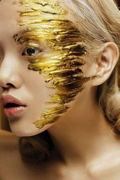 windswept gold strokes
