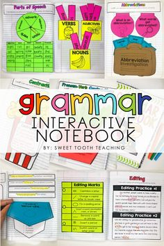 Interactive notebooks are a great learning tool in the classroom! This resource can be used as a way of keeping notes, references, skill review activities, or even as assessments! Interactive notebooks make learning meaningful, visual, and fun for our kiddos.   #GrammarActivities #Grammarideas #InteractiveNotebook #GrammarNotebook #ElementaryInteractiveNotebook #ThirdGradeActivities #ELAideas