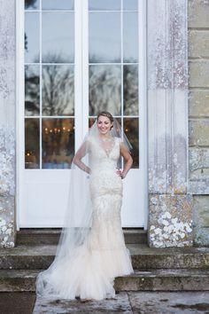 Stylish Elegant Isle Of Wight Winter Wedding Yolan Cris Dress Bride