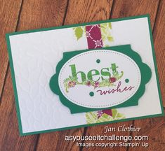 Thinking Stamping: As You See It 167 - Design Team Card