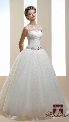 pretty ballgown wedding dress, from Hadassa