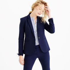 """With a single-button closure and a cropped length, this jacket looks just as smart with jeans as it does with trousers or a pencil skirt. It's made from our refined stretch wool, which comes from Lanificio di Tollegno (est. 1862, it's one of Italy's oldest mills), and has a super-flattering close fit. <ul><li>Tailored for a fitted look.</li><li>Body length: 26"""".</li><li>Sleeve length: 32"""".</li><li>Hits at hip.</li><li>Italian wool with a hint of stretch.</li><li>Notch collar.</li><li>Single…"""