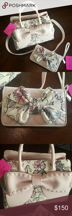 Betsey Johnson Brand new tags still attached Betsey Johnson spring collection with matching wallet Betsey Johnson Bags