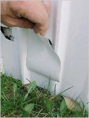 The original x white piece of UV protected adhesive permanently seals cracks and holes in vinyl skirting and siding. Repairs cracked bathtubs, vinyl skirting, rubber roofs & hundreds of other repairs. You cut to Mobile Home Renovations, Mobile Home Makeovers, Remodeling Mobile Homes, Home Remodeling, Bathroom Remodeling, Home Improvement Loans, Home Improvement Projects, Home Design, Interior Design