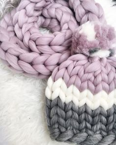 A personal favorite from my Etsy shop https://www.etsy.com/listing/485350992/hand-knit-beanie-in-pinkand-grey-big