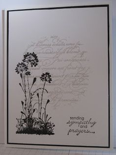 In My Craft Room: Serene Silhouettes Sympathy card