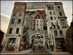 La Fresque des Quebecois, in Rue Notre Dame, Quebec Old Town