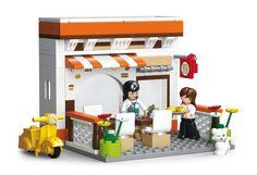 Sluban fra SBDanmark er et godt alternativ til de dyre klodser og er fuld ud kompatibel med mærker som f.eks Lego. Cafe Restaurant http://www.sbdanmark.dk/index.php/town/sluban-bistro-m38-b0567