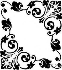 Одноклассники Perfect for my black & natural dresser! Stencil Patterns, Stencil Designs, Embroidery Patterns, Silhouettes, Motif Oriental, Stencils, Paper Art, Paper Crafts, Borders And Frames
