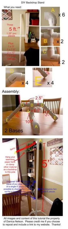 diy pvc backdrop stand for photography Diy Backdrop Stand, Streamer Backdrop, Backdrop Frame, Photography Backdrops, Photography Tutorials, Do It Yourself Design, Foto Baby, Photographing Kids, Art Tutorials
