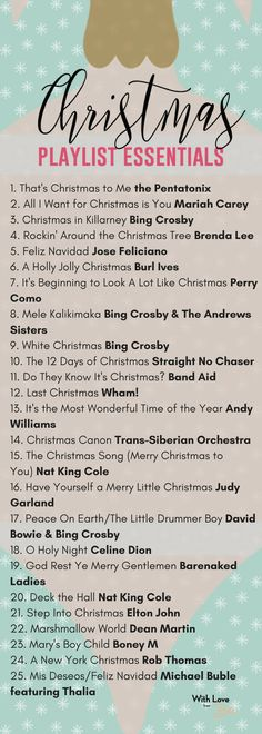 25 Christmas Songs to Listen to as you Deck the Halls - With Love From Bex