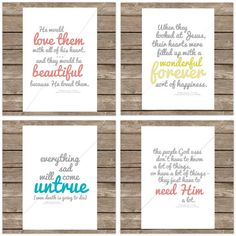 Nursery idea: make prints of quotes from the Jesus Storybook Bible. I could do this myself for very small cost.
