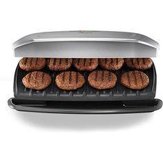George Foreman 144-sq in 9 Serving, Classic-Plate Grill, Silver, GR2144P  $49.92  walmart