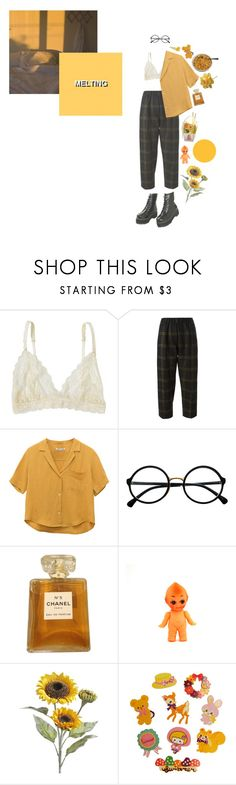 """""""when i'm alone i'd rather be with you,"""" by ghostkid ❤ liked on Polyvore featuring Lonely, Forte Forte, Retrò, Chanel, Pier 1 Imports and Clips"""