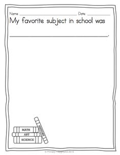 Celebrate the end of the school year by helping your young writers create a special memory book (with matching diplomas) $
