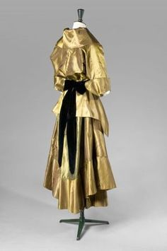 Bronze taffeta afternoon ensemble (dress and jacket, back) by Callot Soeurs, French, summer 1914.