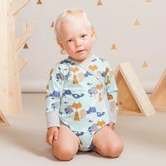 KAMU vauvan kietaisubody, vaaleanvihreä | Leikkisä lasten syysmallisto 2016 on nyt saatavilla. Tee tilaus NOSH vaatekutsuilla, edustajalta tai verkosta nosh.fi (This clothing collection is available only in Finland but you can shop these wonderful fabrics online en.nosh.fi)