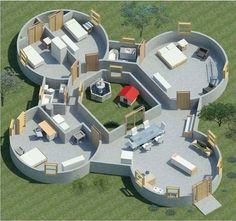 Cob House Plans, Round House Plans, Bedroom House Plans, Modern House Plans, Modern House Design, House Floor Plans, Cheap House Plans, Silo House, Casas Containers