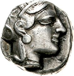 Tetradrachm to 449 BC Athena head with Attic helmet r. owl, behind laurel branch and crescent. Inelastic plate. XXII, 7. 16.87 g. very fine / extremley fine    Dealer  Teutoburger Münzauktion & Handel GmbH    Auction  Minimum Bid:  350.00 EUR