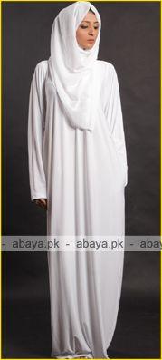 Hajj abaya   White Ihram abaya for Hajj and Umrah ED875