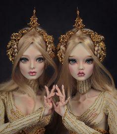 Porcelain Doll Makeup, Porcelain Dolls Value, Fashion Royalty Dolls, Fashion Dolls, Mode Lolita, Marina Bychkova, Sister Poses, Enchanted Doll, Pottery Studio