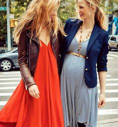 they're pregnant and happy because their clothes are cute! isn't that how life should be?