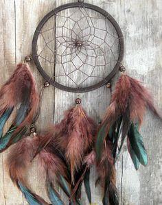 Brown Dream Catcher Wall Hanging Dark Brown Feathers Dreamcatcher