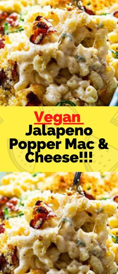 - One of food Delicious Mac And Cheese Recipe, Cheese Recipes, Vegan Jalapeno Poppers, Cashew Sauce, Recipe Cover, Vegan Cream Cheese, Raw Cashews, Best Vegan Recipes, Mac Cheese