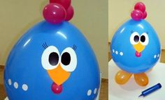 Passo a passo da Galinha pintadinha feita de balão.  http://cristalfestas.com.br/blog/como-fazer-um-balao-da-galinha-pintadinha/