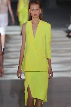LOVE this vibrant yellow asymmetric number from...