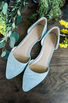 J Crew blue bridal flats #weddingshoes @weddingchicks