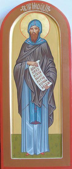 dimensional icon, мерная икона Св. Мефодий