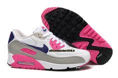 Officiel Nike Air Max 90 SJX Chaussures Nike Sportswear Pas Cher Pour Femme Blanc - Gris - Rose - Bleu