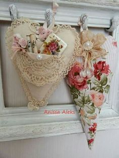 Shabby Chic Heart With Pocket