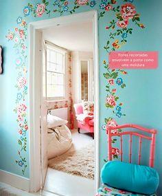 flowers around the door #door #flower