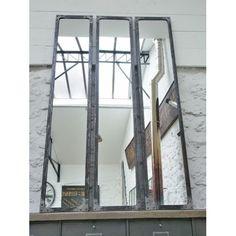 Miroir atelier riveté 180x35x3