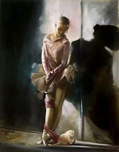 Ron Di Scenza is an ltalian American painter, known for working in the Figurative style. For biographical notes -in english and italian- and other works by Di Scenza see Ron Di Scenza, 1954 Ballerina Kunst, Ballerina Painting, Ballet Art, Shadow Play, Dance Art, Figure Painting, Beautiful Paintings, Art Music, American Artists
