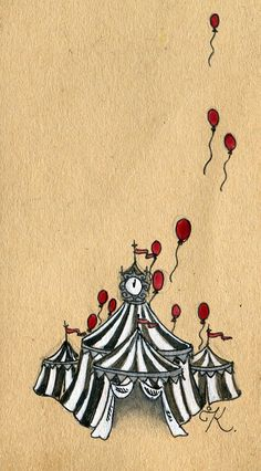 Circus . something like that but with the tent being on top of the frame and little stars raining off of it