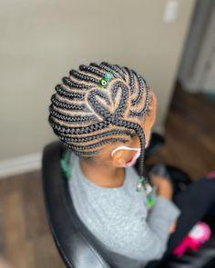 Little Black Girls Braids, Black Little Girl Hairstyles, Black Toddler Hairstyles, Black Kids Braids Hairstyles, Lemonade Braids Hairstyles, Quick Braided Hairstyles, Girls Natural Hairstyles, Baby Girl Hairstyles, Black Girl Braids
