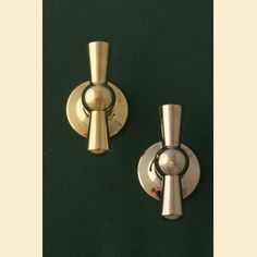 Brass Cupboard Knob The Tap. Brass on the left and nickel plate on the right. http://www.priorsrec.co.uk/brass-cupboard-knob-the-tap/p-3-15-16-44